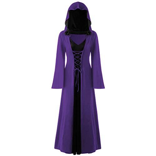 Weant Mittelalter Kleidung Damen, Frauen Vintage Party Ballkleid Damen Korsagekleid Steampunk Gothic Kostüm Magic...