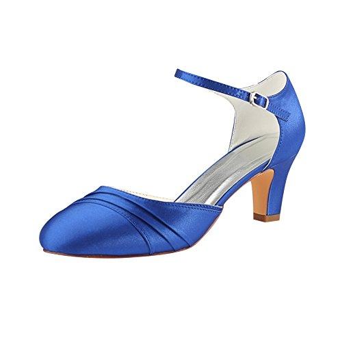 Emily Bridal Brautschuhe Elfenbein Brautschuhe 2018 High Heel Runde Falten Knöchelriemen Hochzeit Schuhe Vintage...