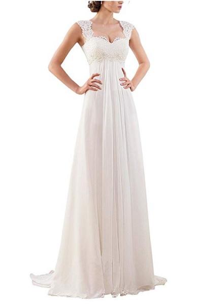 Vintage Brautkleid Boho Hochzeitskleid Hippie Brautkleid Spitze schlicht rückenfrei