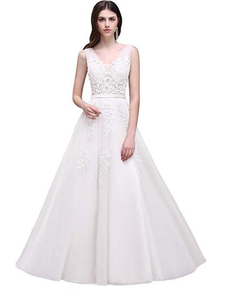 Vintage Brautkleid Boho Hochzeitskleid Rockabilly Brautkleid Spitze schlicht rückenfrei weiß